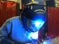 Me, MIG welding at the Frederick Community College-2