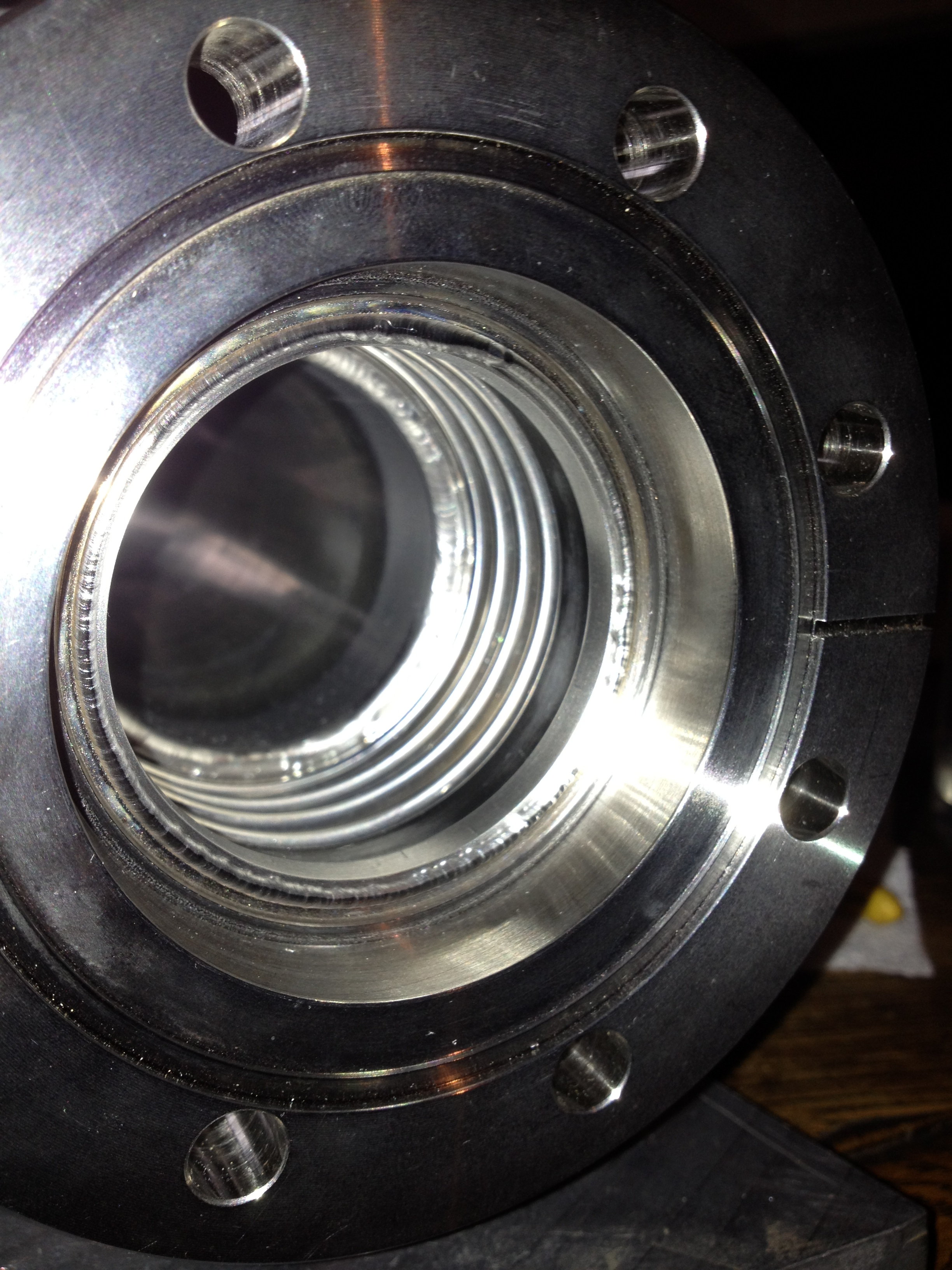 SS Flange to .006 ' bellows with inner weld-2