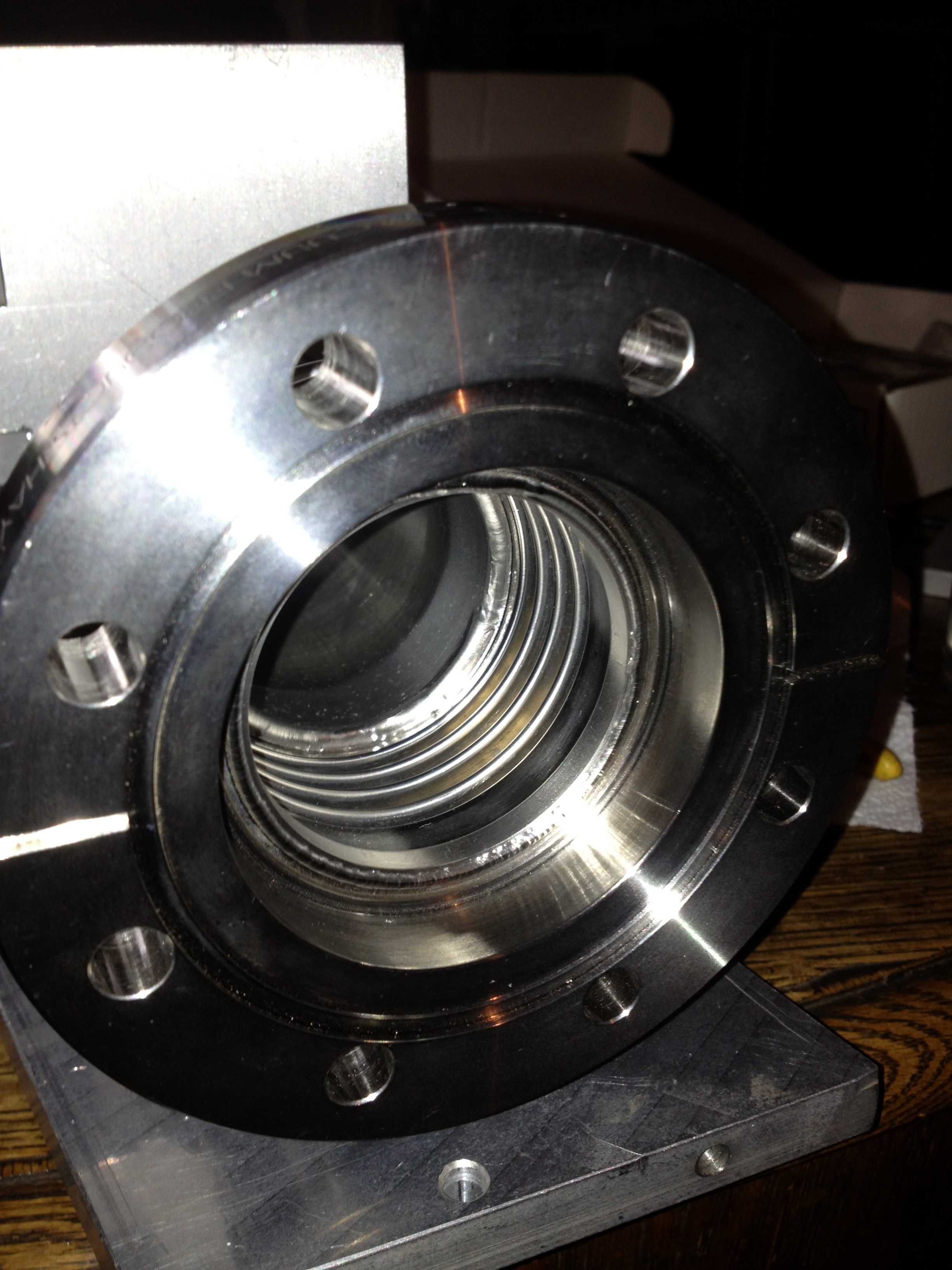 SS Flange to .006 ' bellows with inner weld-3